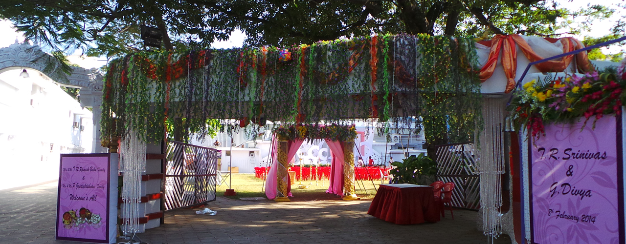 Entrance decoration for wedding